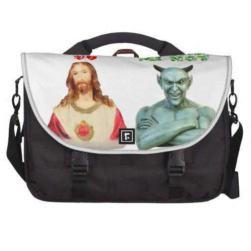 Jesús me ama… los amores satan yo no… bolsas para ordenador