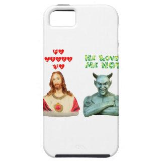 Jesús me ama… los amores satan yo no… funda para iPhone SE/5/5s