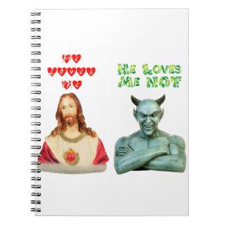 Jesús me ama… los amores satan yo no… cuadernos