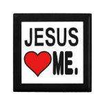 Jesús me ama los regalos de Jesús Joyero Cuadrado Pequeño