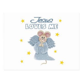 Jesús me ama, muchacho postal
