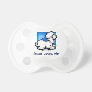 Jesús me ama pacificador del cordero chupete de bebé