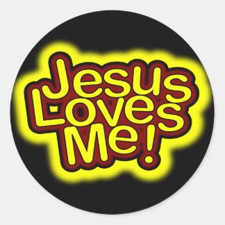 ¡Jesús me ama! Pegatina
