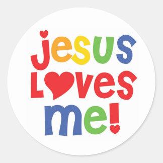 ¡Jesús me ama! - pegatina