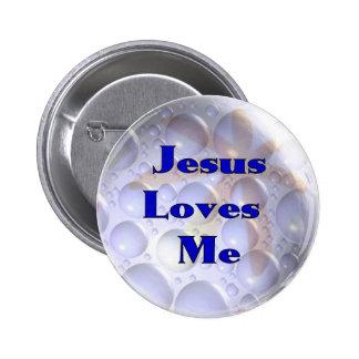 Jesús me ama pin redondo de 2 pulgadas