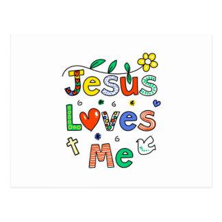 Jesús me ama postales