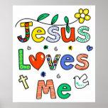 Jesús me ama poster