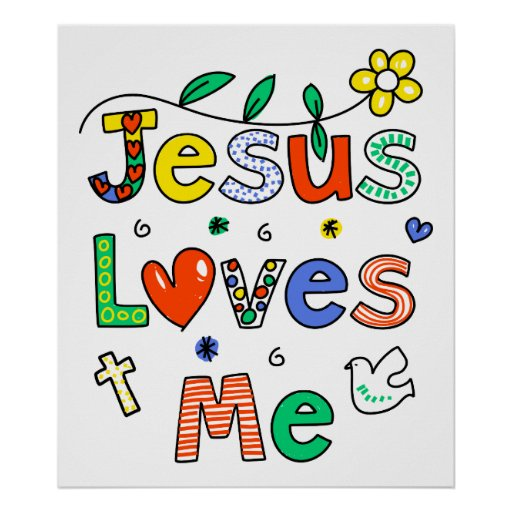 Jesús me ama póster