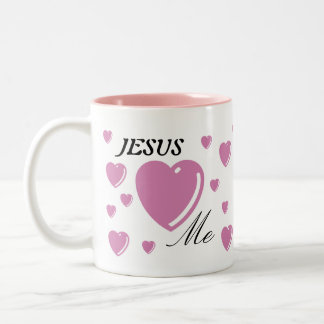 JESÚS me ama - rosa Taza