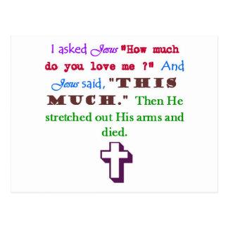 Jesús me ama tarjetas postales
