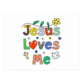 Jesús me ama tarjeta postal