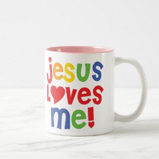¡Jesús me ama! taza