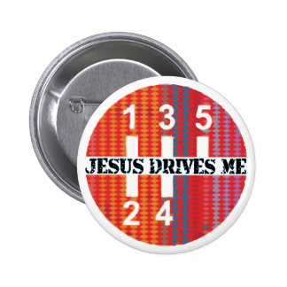 Jesús me conduce botón cristiano pin redondo de 2 pulgadas