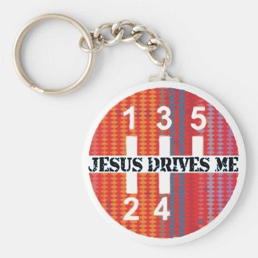 Jesús me conduce llavero cristiano