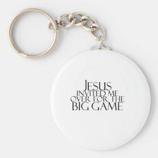 Jesús me invitó encima para el gran juego llavero redondo tipo pin
