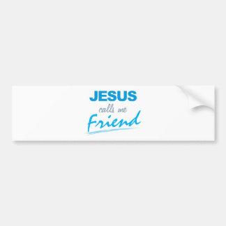 Jesús me llama amigo etiqueta de parachoque