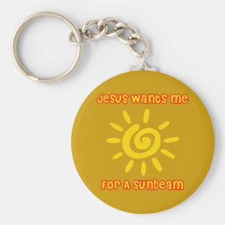 Jesús me quiere para un rayo de sol llavero redondo tipo pin