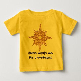 ¡Jesús me quiere para un rayo de sol! Remeras