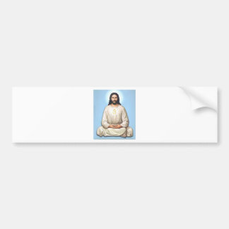 Jesús Meditating con OM Pegatina Para Auto