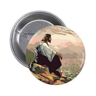 Jesus Meek and Mild 2 Inch Round Button