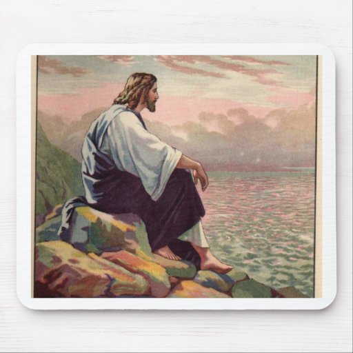 Jesus Meek and Mild Mouse Mat