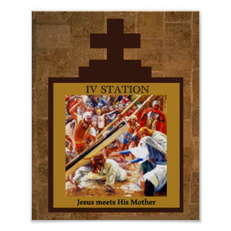 Jesus Meets His Mother Station 4 Poster