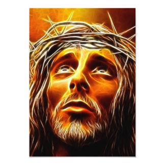"""Jesús: Mi dios porqué téngale abandonado me Invitación 5"""" X 7"""""""