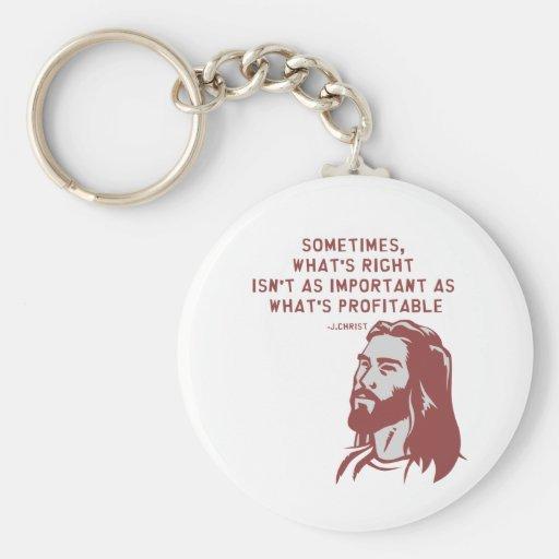 Jesus misquote basic round button keychain