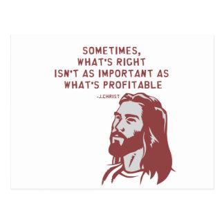 Jesus misquote postcard