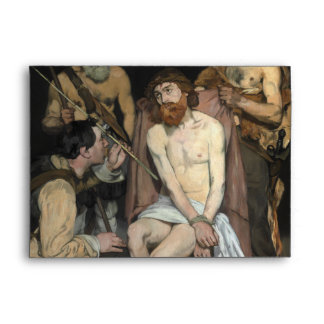 Jesus Mocked by the Soldiers by Edouard Manet Envelopes
