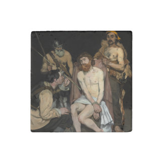Jesus Mocked by the Soldiers by Edouard Manet Stone Magnet