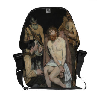 Jesus Mocked by the Soldiers by Edouard Manet Messenger Bag