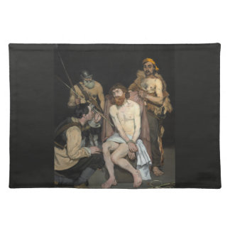 Jesus Mocked by the Soldiers by Edouard Manet Placemats
