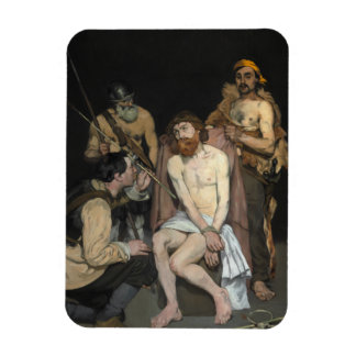 Jesus Mocked by the Soldiers by Edouard Manet Rectangle Magnet