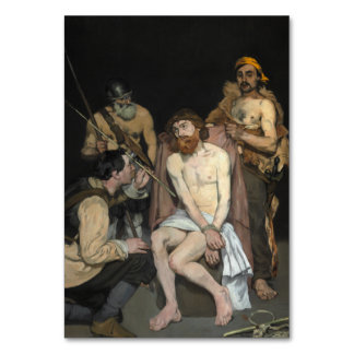 Jesus Mocked by the Soldiers by Edouard Manet Table Card