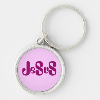 Jesus Monogram Style Design Keychains