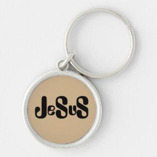 Jesus Monogram Style Design Key Chain