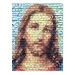 Jesus montage postcard