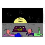 Jesus Moon Greeting Card
