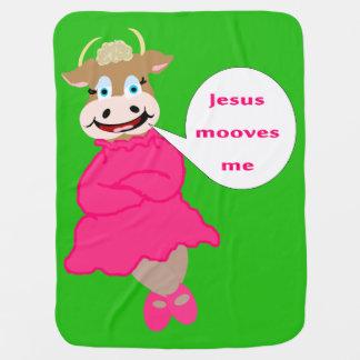 Jesús Mooves yo manta del bebé Mantitas Para Bebé