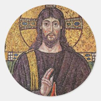 Jesus Mosaic Classic Round Sticker