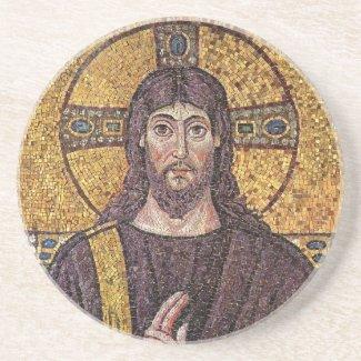 Jesus Mosaic Sandstone Coaster coaster
