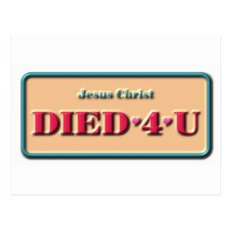 Jesús murió 4 U Postal