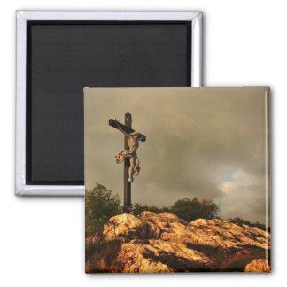 Jesús murió en la cruz imán de frigorifico