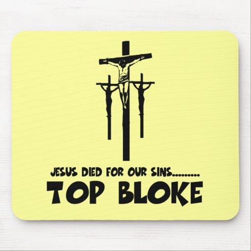 Jesús murió por nuestros pecados tapetes de raton