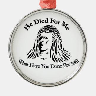 Jesús murió por usted ornamentos de reyes magos