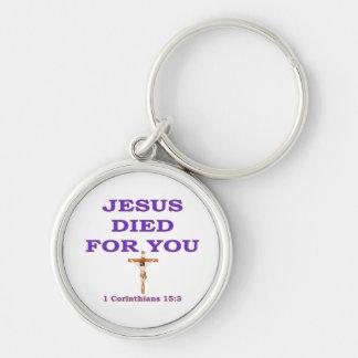 JESÚS MURIÓ POR USTED LLAVERO PERSONALIZADO
