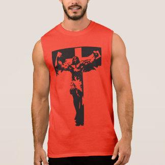 Jesús muscular camisetas sin mangas