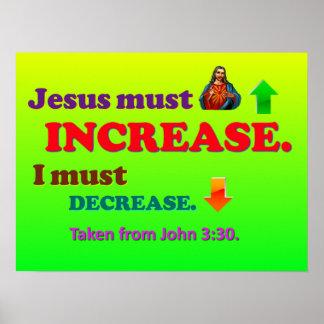 Jesus Must Increase! I Must Decrease! Poster