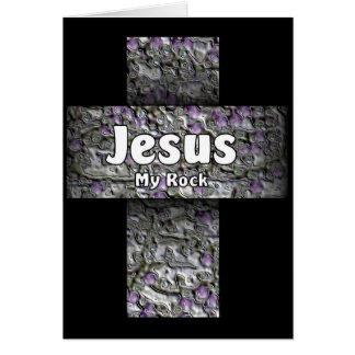 Jesus My Rock Card